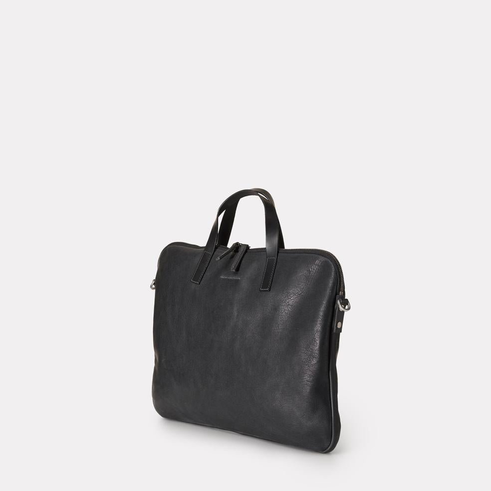 Ally Capellino - Marcus Calvert Leather Folio Bag - Black