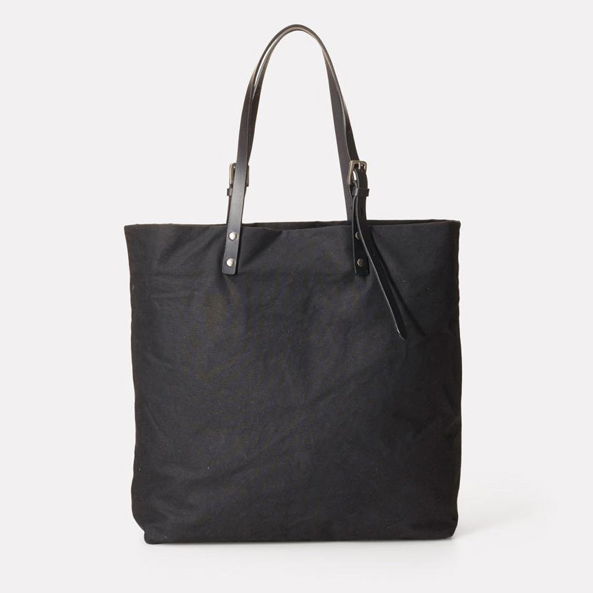 Ally Capellino - Natalie Waxed Cotton Tote - Black