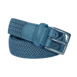 Woven Elastic Belt - Grey Blue