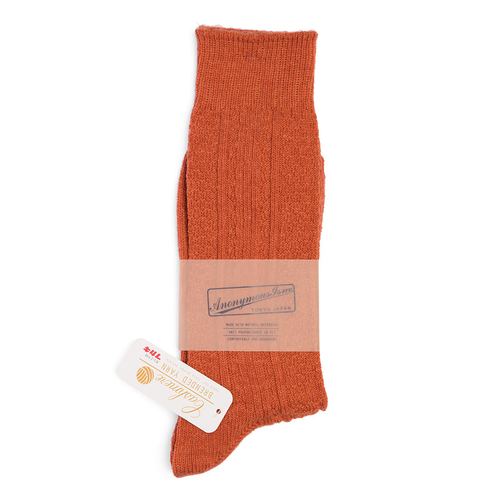 Anonymous Ism - Wool & Cashmere Socks N°5 - Orange
