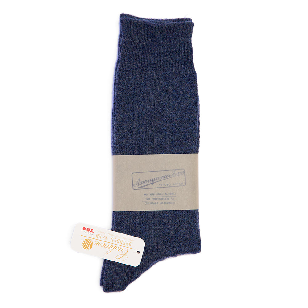 Anonymous Ism - Wool & Cashmere Socks N°5 - Navy