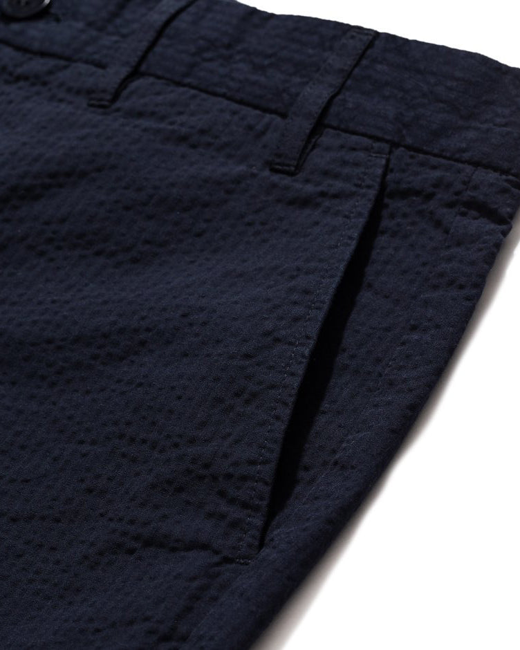 Aros Seersucker Shorts - Dark Navy