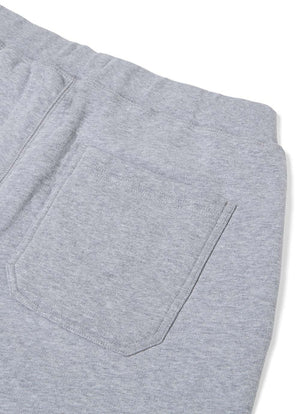 Cotton Loopback Shorts - Grey Melange