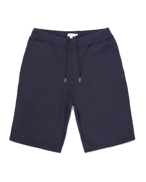 Cotton Loopback Shorts - Navy