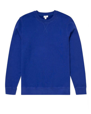 Cotton Loopback Sweatshirt - Yves Blue
