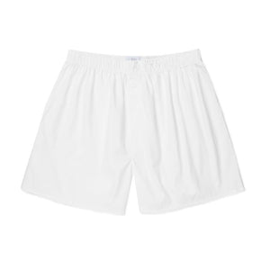 Cotton Poplin Boxer Shorts - White
