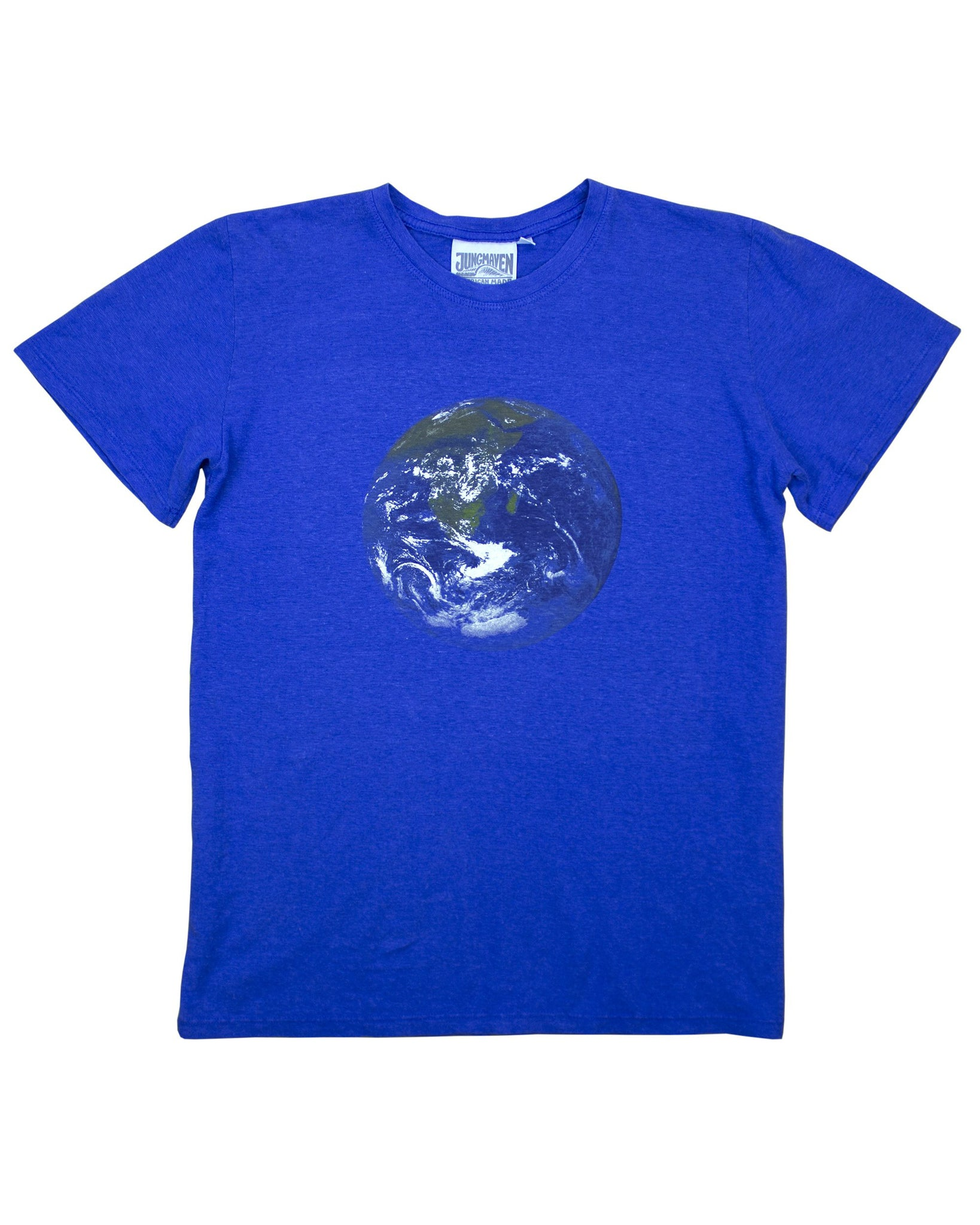 Earth Flag Jung Tee - Earth Blue