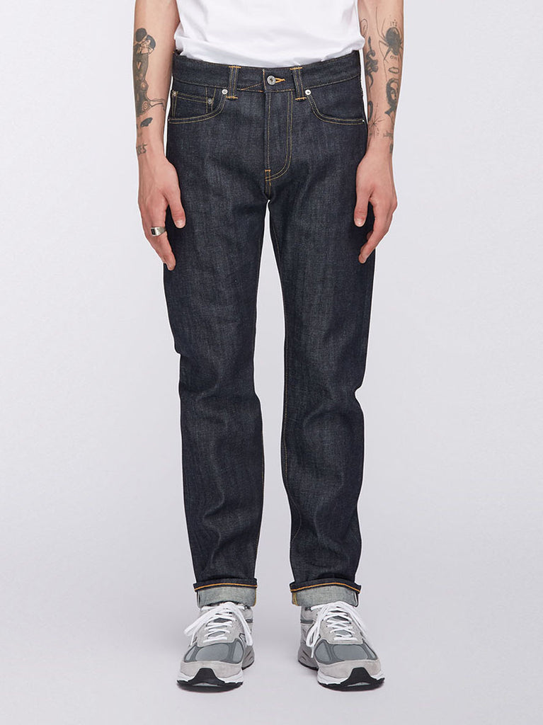 Edwin - ED-80 Slim Tapered Jeans Red Listed Selvage Denim - Unwashed