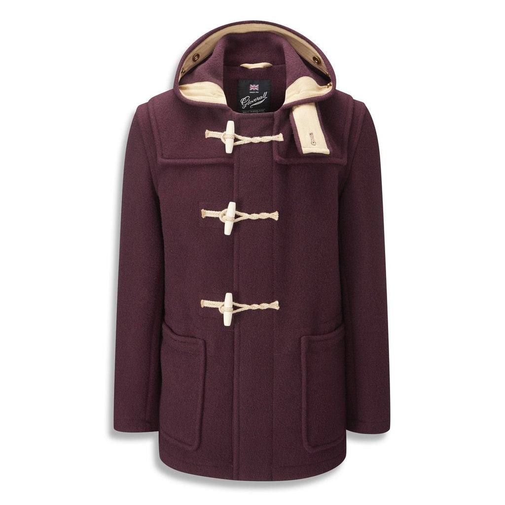 Gloverall - Mid Length Monty Duffle Coat - Burgundy
