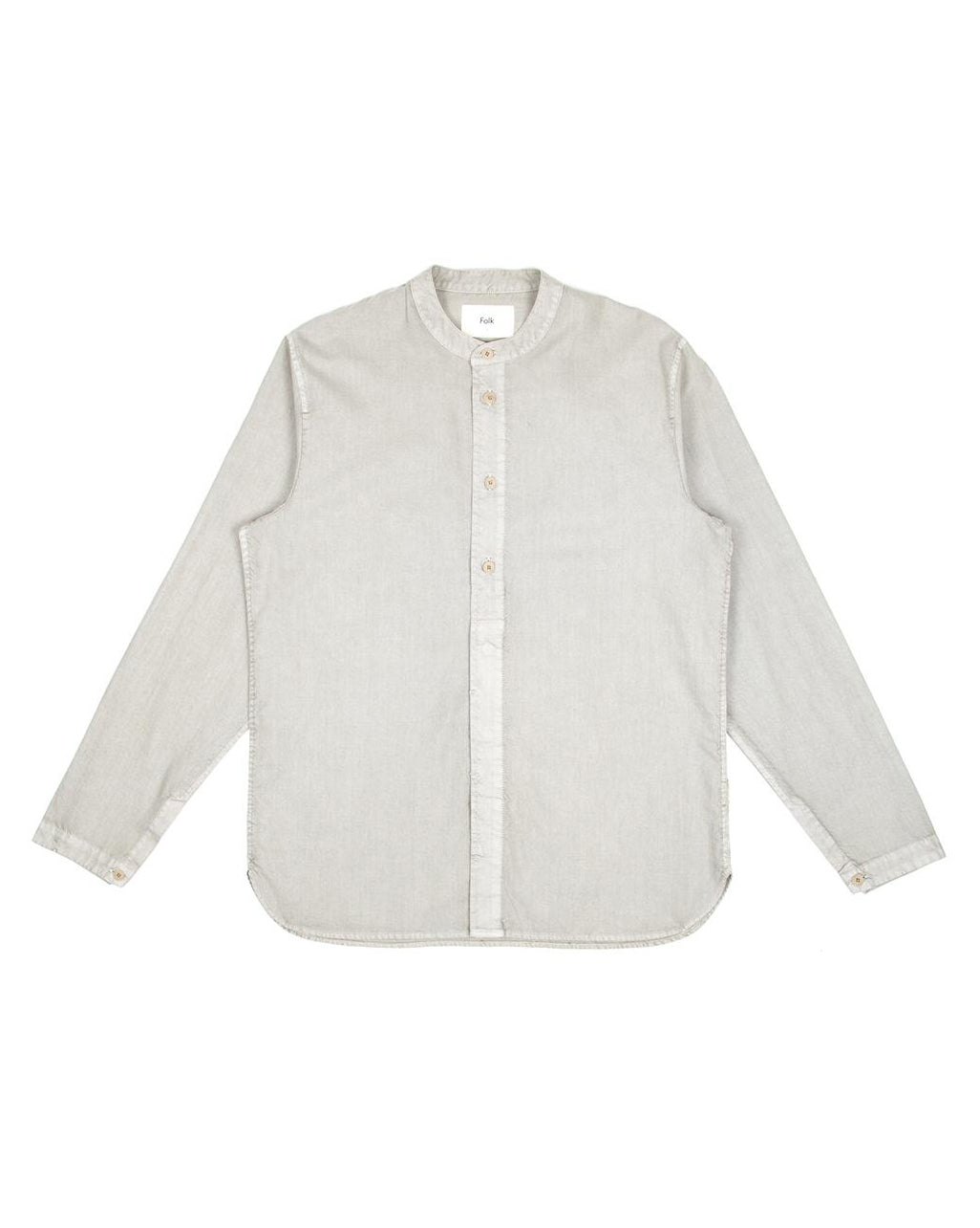 Half Placket Grandad - Peat