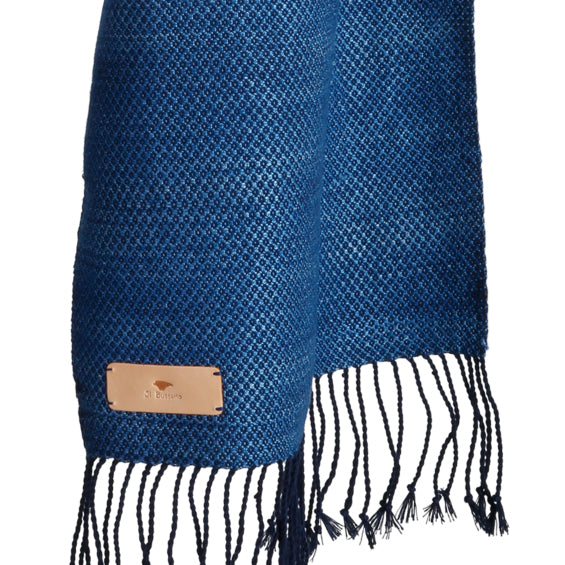 Il Bussetto - Stone Washed Scarf - Natural Indigo