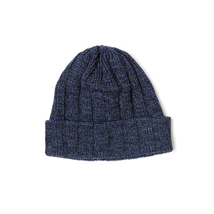Indigo Cotton Wool Beanie