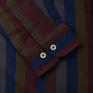 Italian Striped Moleskin Work Shirt