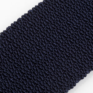 Knitted Silk Solid Colour Tie - Navy