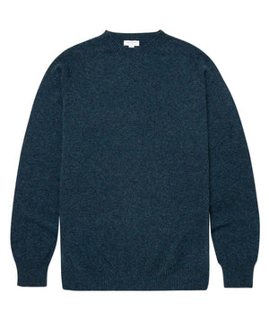 Lambswool Crew Neck Jumper - Dark Petrol