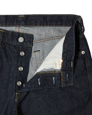 Loose Tapered Kaihara Indigo Blue x White Blue - Rinsed