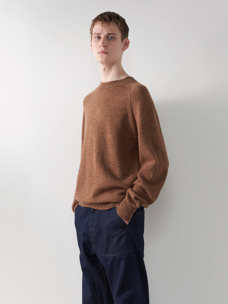 Margaret Howell MHL - Crew Neck Utility Wool Sweater - Ginger