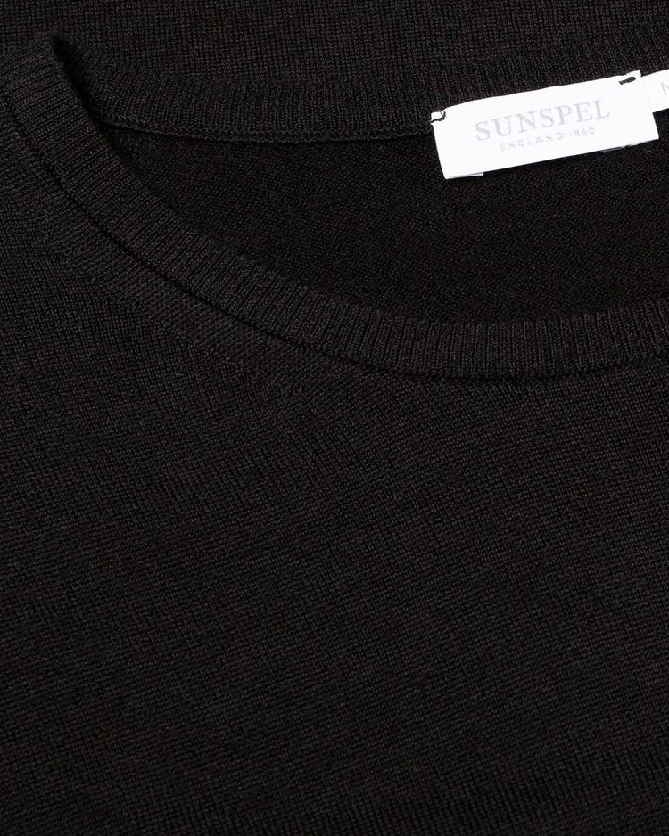 Merino Crew Neck  - Black