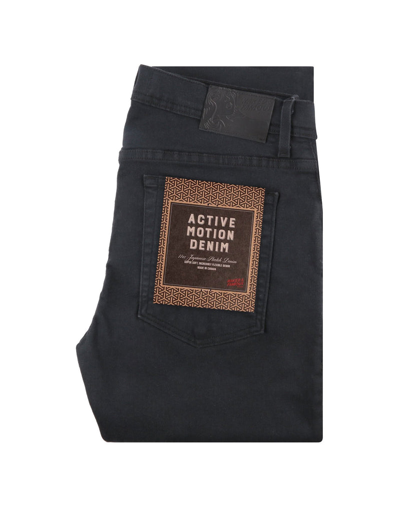 Naked & Famous Denim - Weird Guy - Active Motion Black