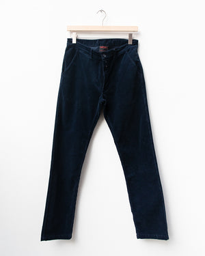 Navy Needlecord Pants