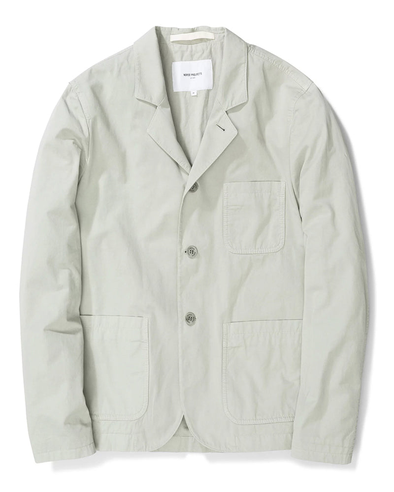 Lars Light Twill Jacket - Galvanized Iron