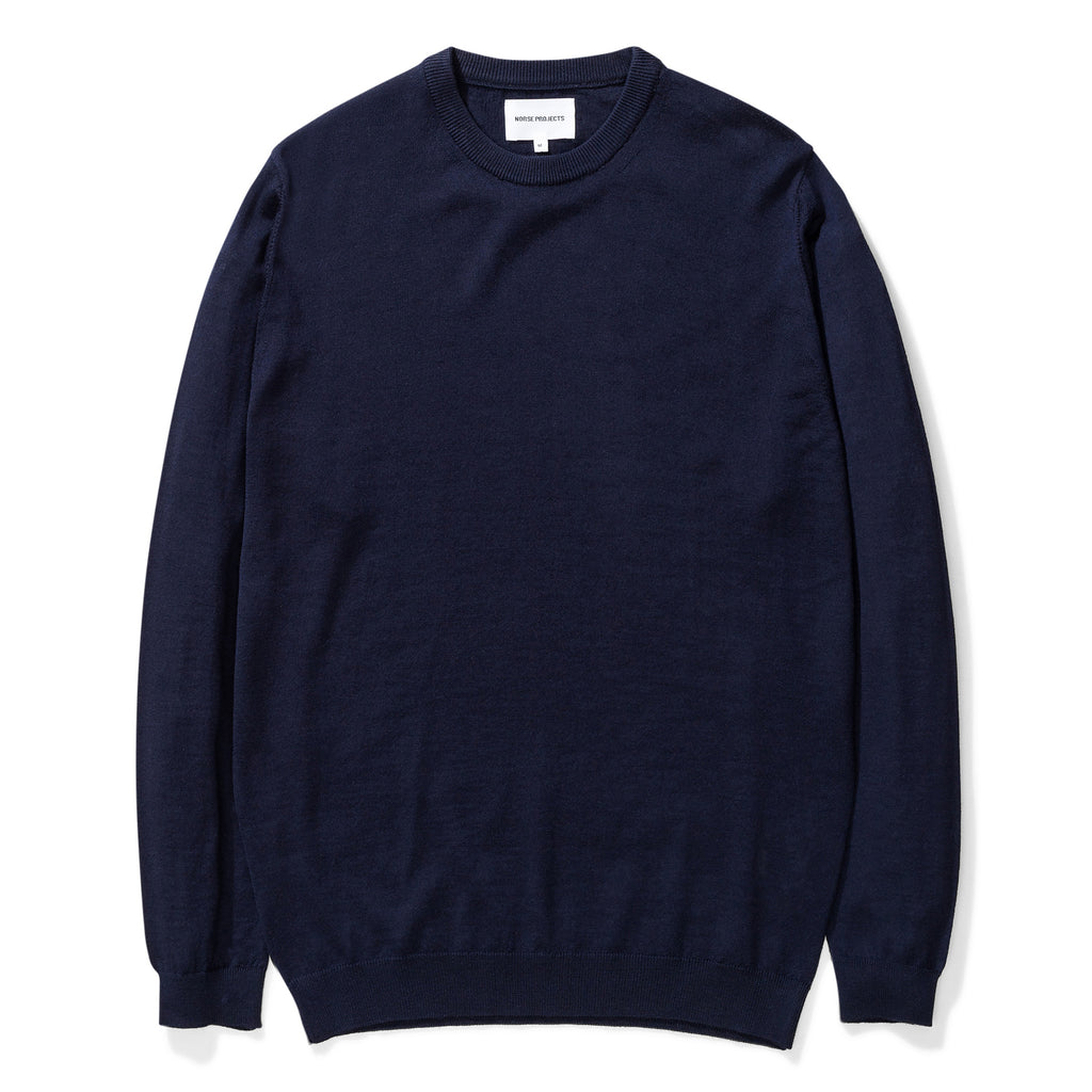 Norse Projects - Sigfred Light Merino - Dark Navy