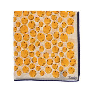 Oranges Print Cotton-Silk Pocket Square
