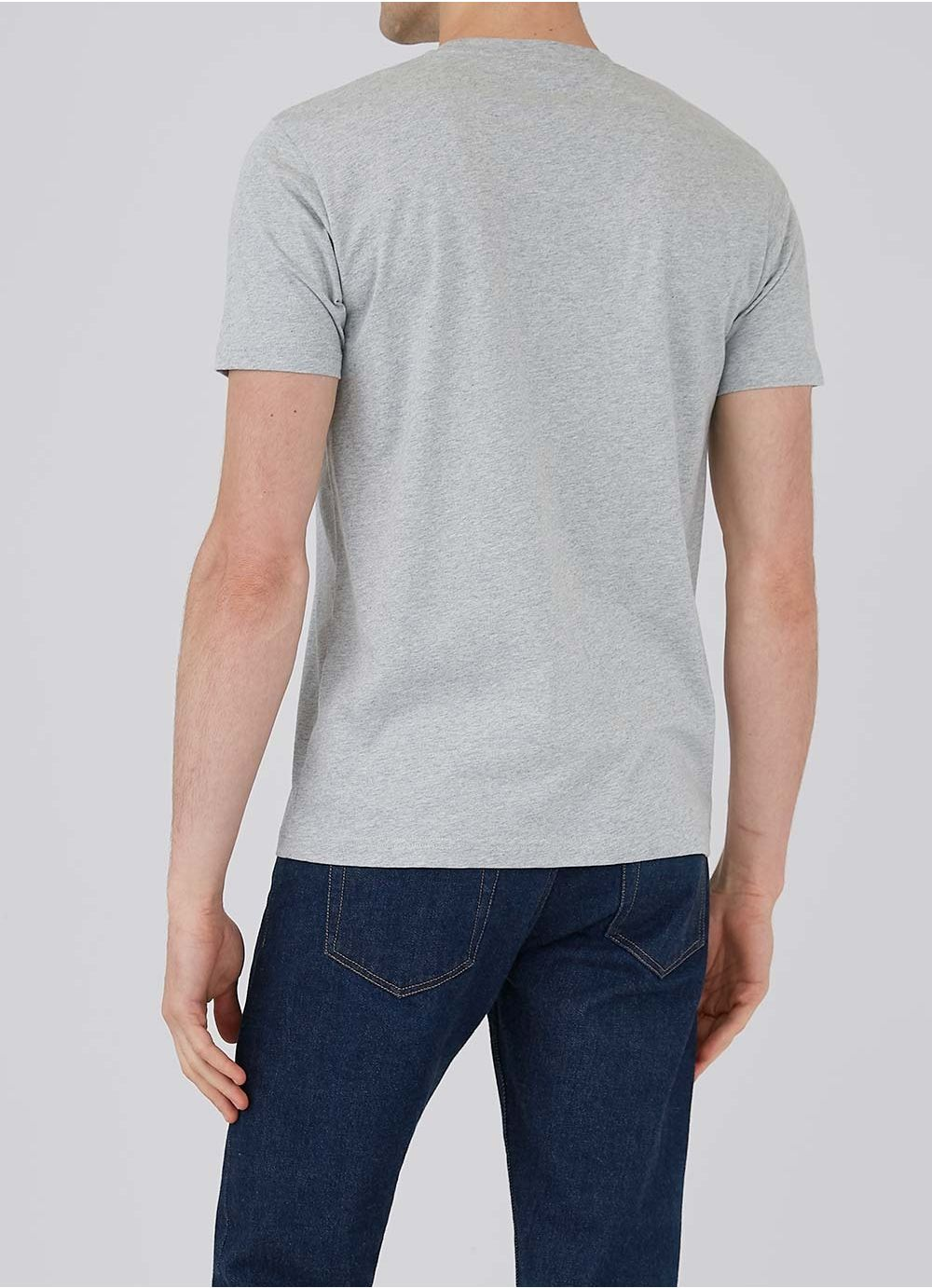 Organic Cotton Riviera T-Shirt - Grey Melange