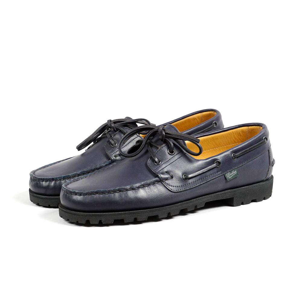 Paraboot for Arpenteur - Malo Leather Boat Shoes - Nuit / Navy