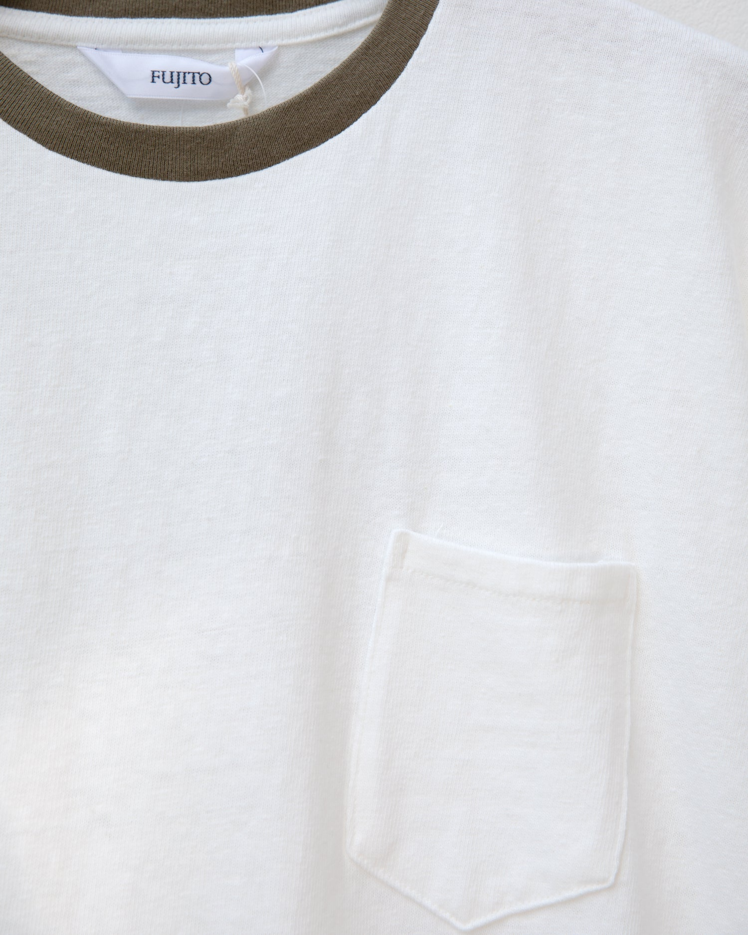 Pocket T-Shirt - White / Khaki