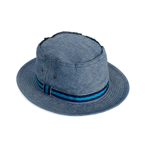 Pork-Pie Hat - Denim