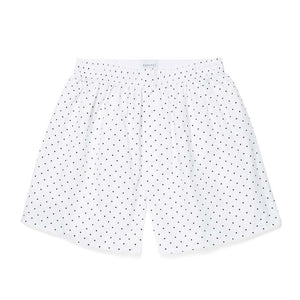 Printed Cotton Boxer Shorts - Valentines White
