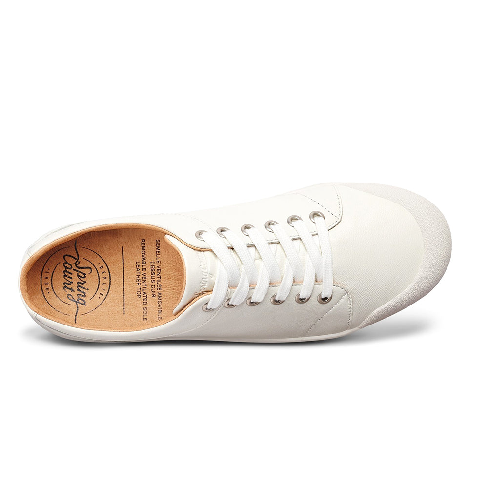 Spring Court - G2 Goatskin Leather Sneakers - White