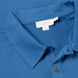 Cotton Jersey Polo Shirt - Mid Indigo