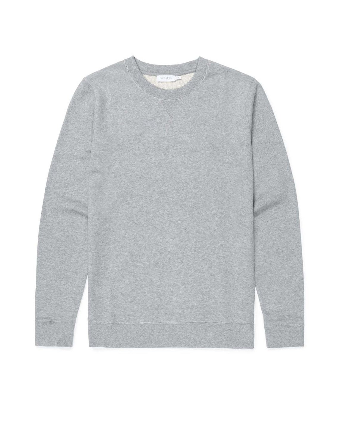 Cotton Loopback Sweatshirt - Grey Melange