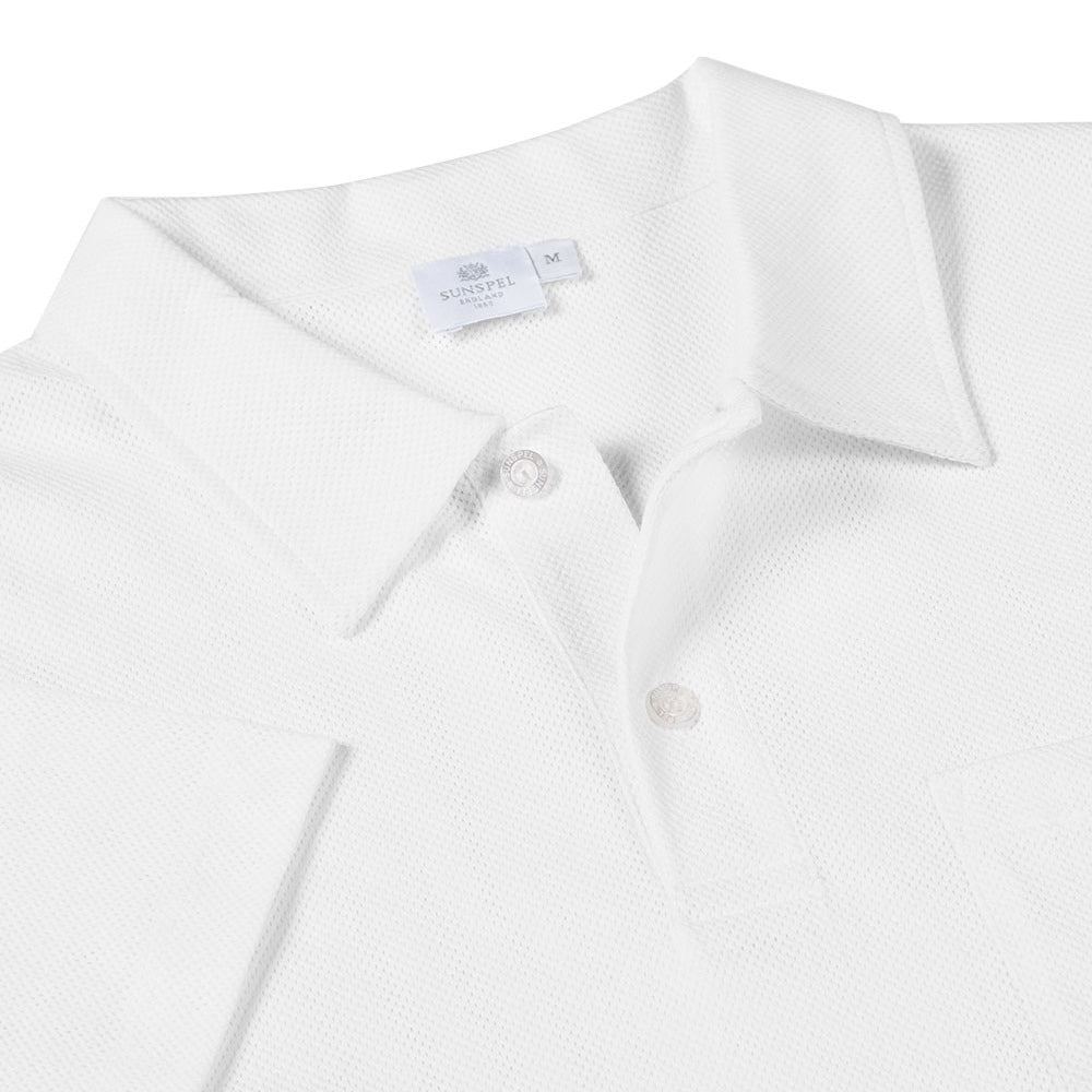 Sunspel - Cotton Riviera Polo Shirt - White