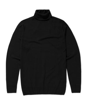 Merino Roll Neck - Black