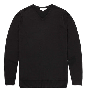 Fine Merino Wool V-Neck Jumper