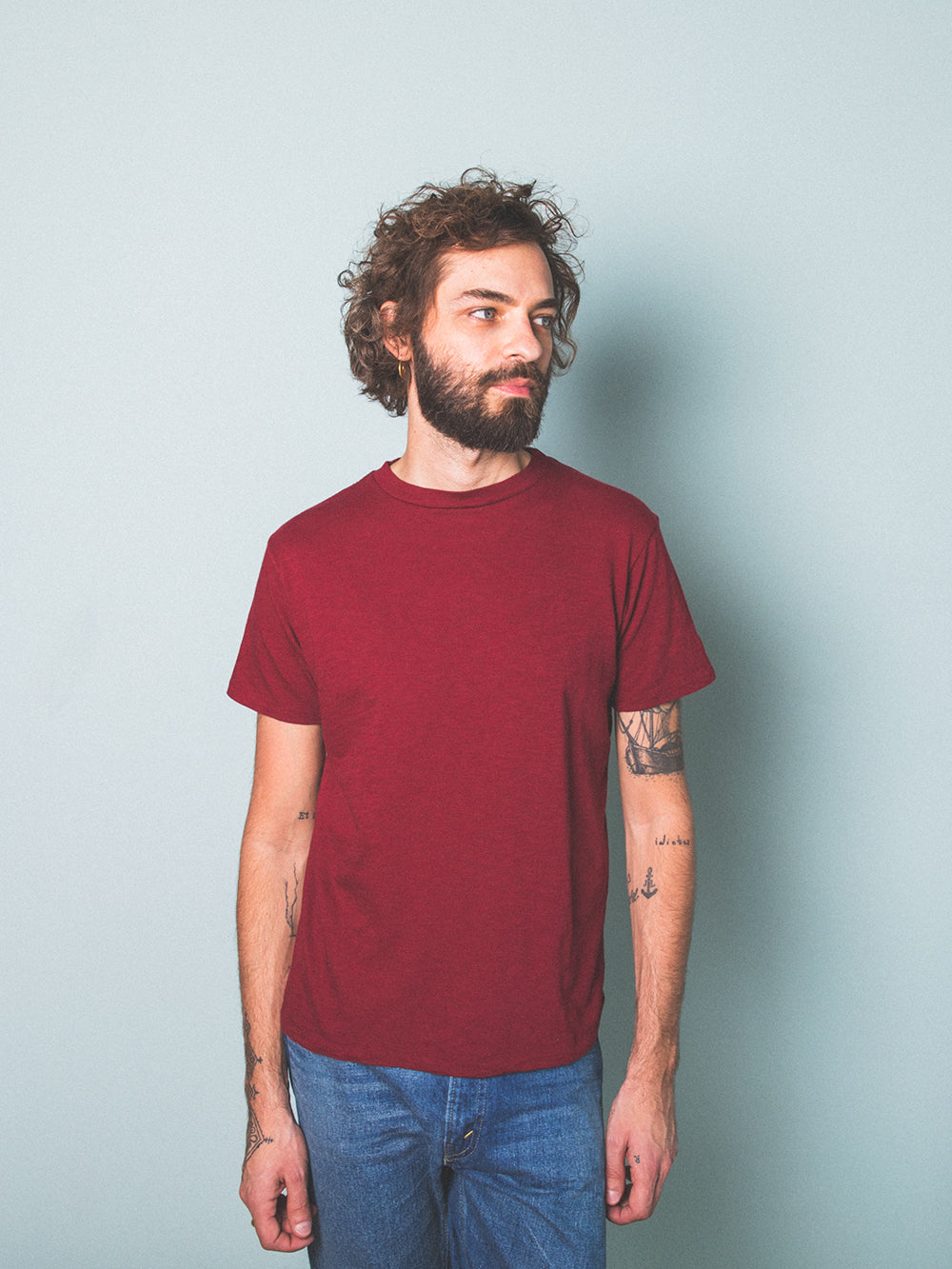 Rolled Regular Cotton SS T-Shirt