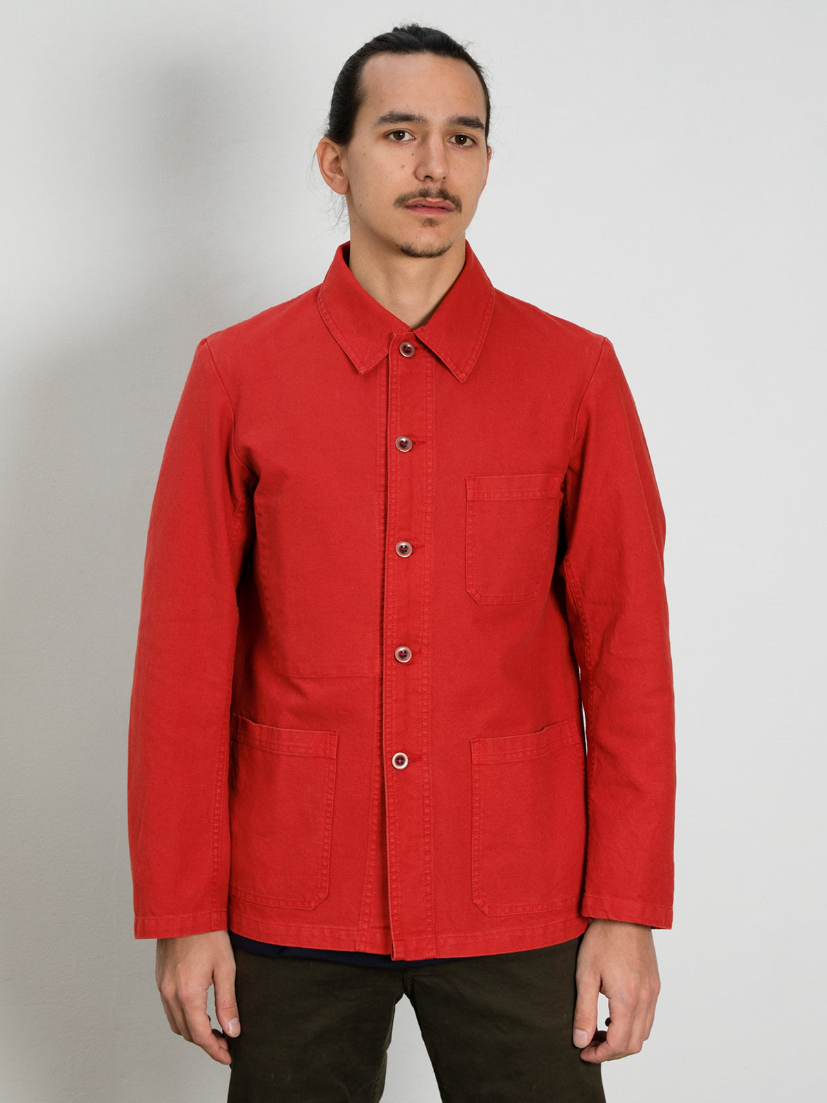 Workwear Jacket 5C in Twill Fabric - Poppy