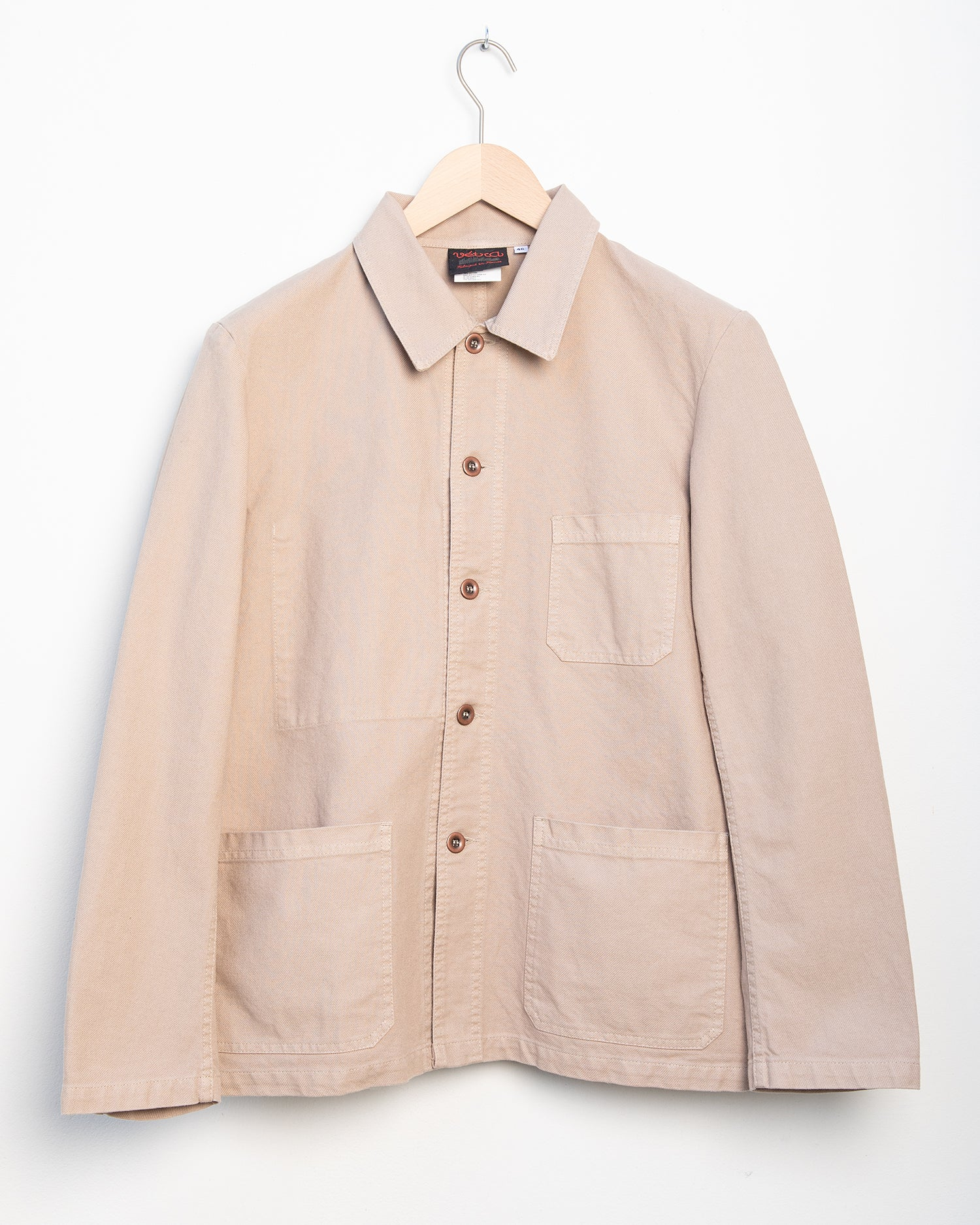 Workwear Jacket 5C in Twill Fabric - Chalk