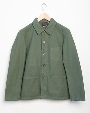 Workwear Jacket 5C in Twill Fabric - Jade