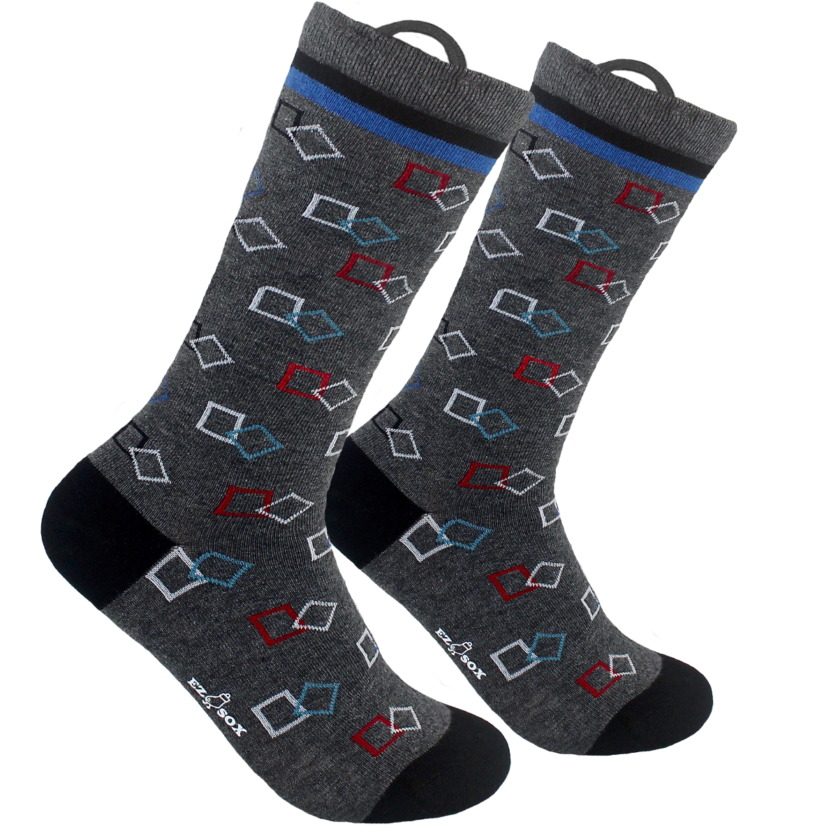 Grey Square Socks