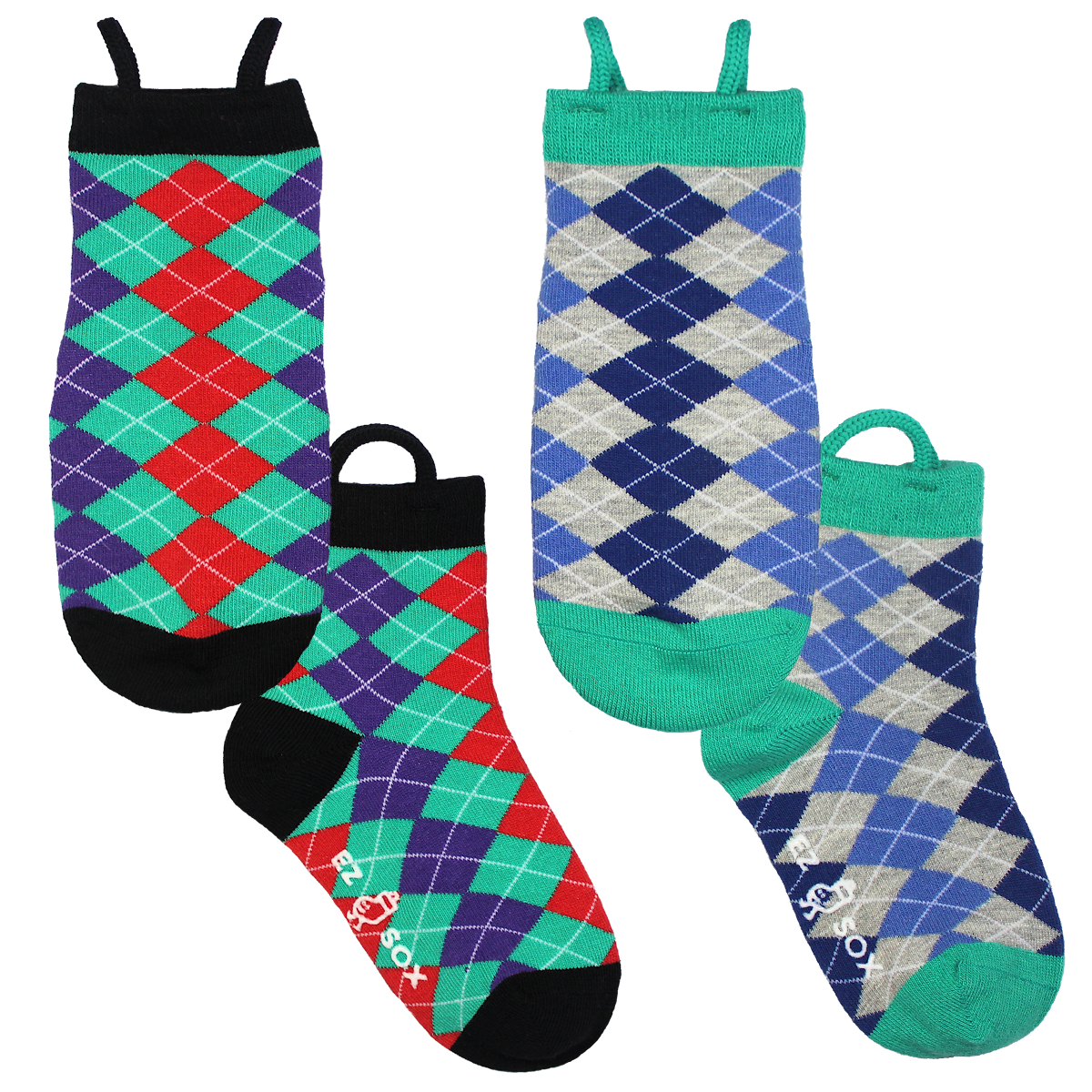 Argyle Kids Socks-2pk