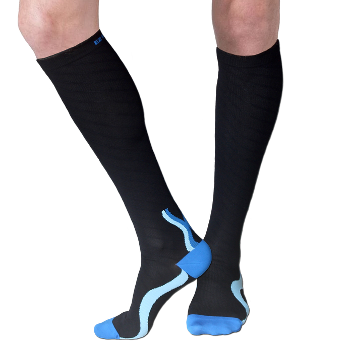 Compression Socks-Black/Blue (Final Sale)