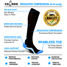 Compression Socks-Black/Grey (Final Sale)