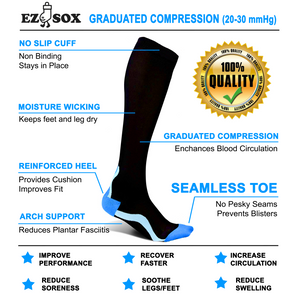 Compression Socks-Black/Grey