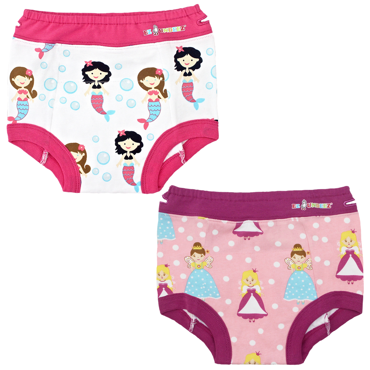 Girls toddler training underwear, mermaids