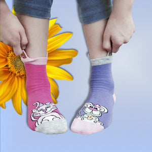 Kitty & Mouse Socks-2pk