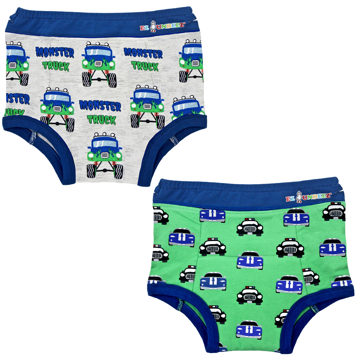 Monster Trucks-Cars Underwear-2pk